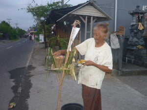 An elderly Balinese woman allows me to photograph her on 'Tawur Kasanga,' the day before Nyepi.