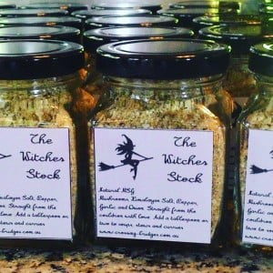 The witches stock. Paleo and vegetarian friendly stock. Straight from the Cauldron with love to you.